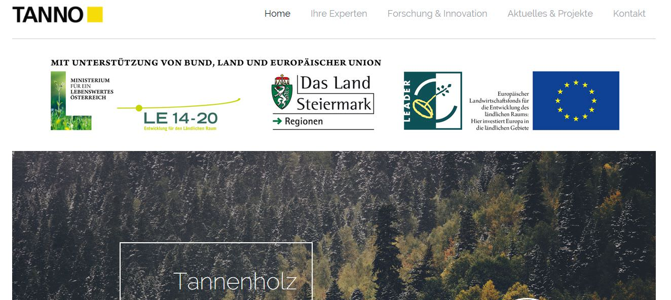 Corporate Wording, Blogs, (Online-)PR: TANNO, Verein zur Stärkung der Tanne [Innovationen aus Tannenholz]