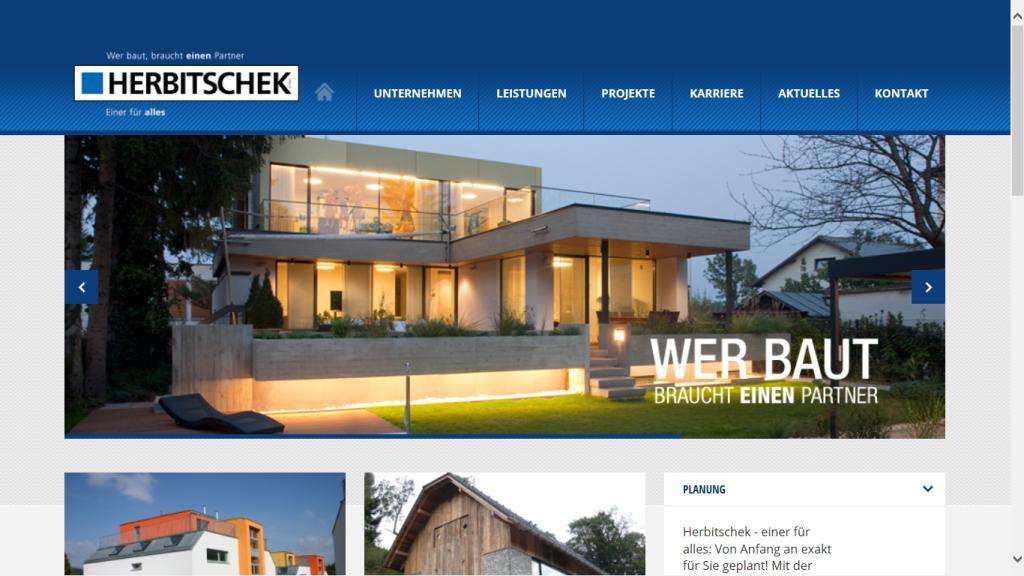 All-Over-Projekt neue Website: Wording-Abstimmung, Einbindung aller Bereichsleiter/innen, Content, Aktualisierung Website Herbitschek GmbH