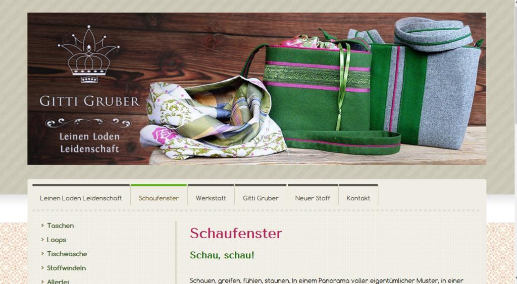 Leinen.Loden.Leidenschaft: Konzept, Text & Website, Gitti Gruber