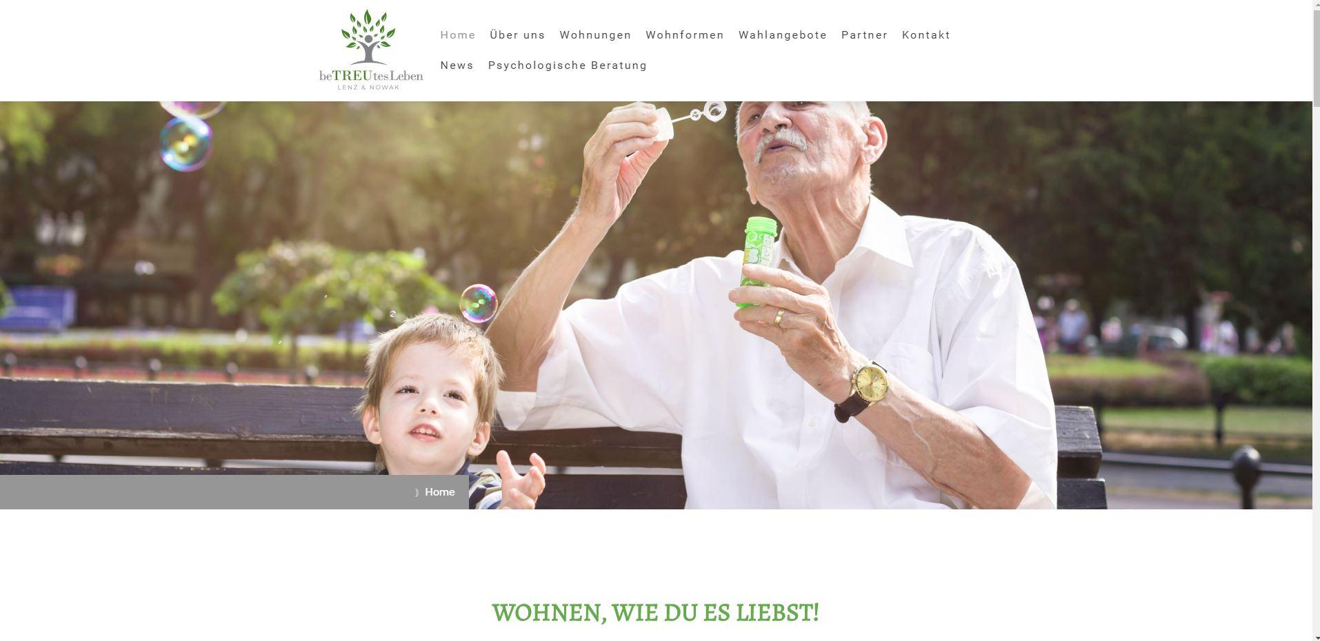 Markenschärfung Betreutes Leben Lenz & Novak [Wohnen, wie du es liebst]