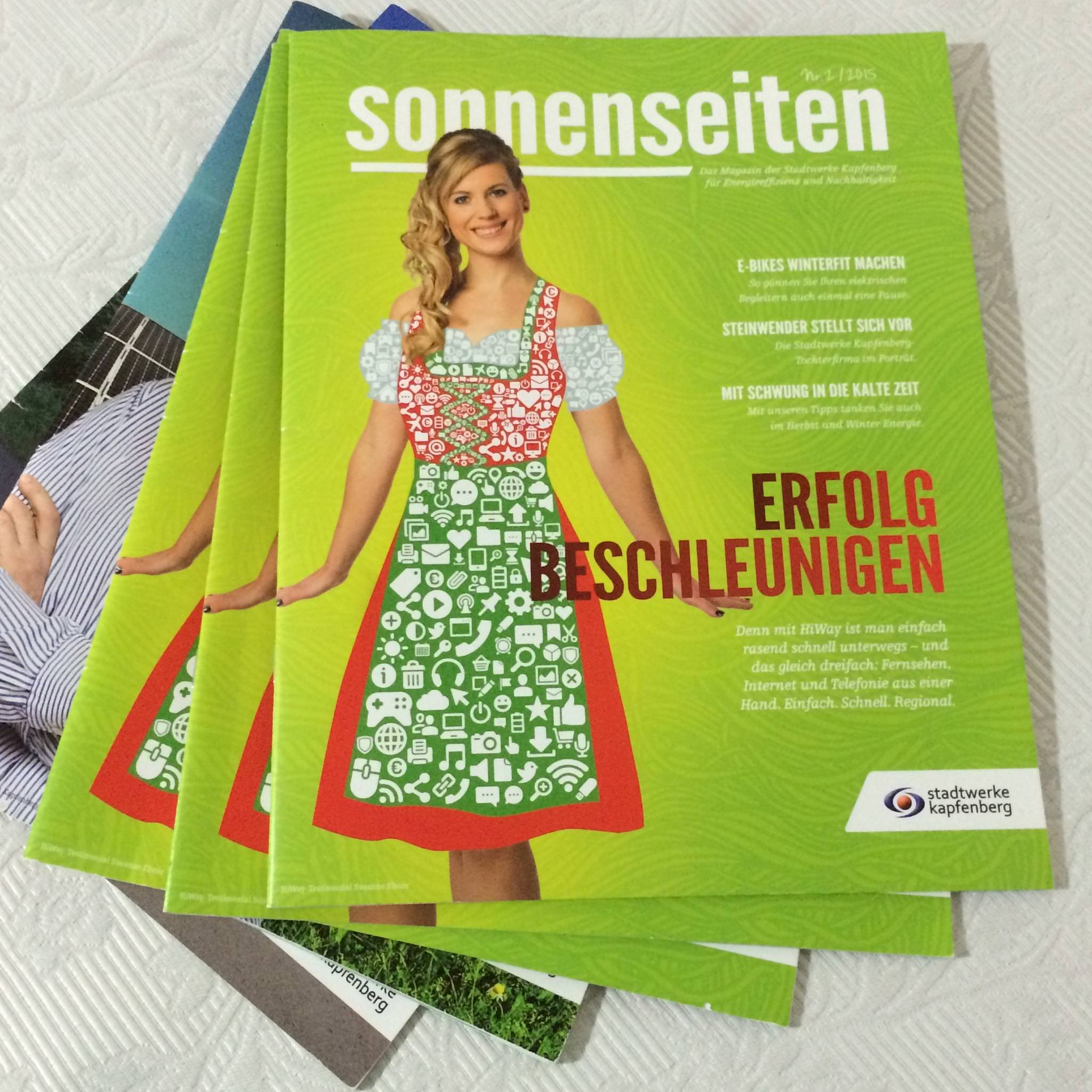Die Sonnenseiten: leitende Redaktion laufender Ausgaben, Kundenmagazin  Stadtwerke Kapfenberg GmbH