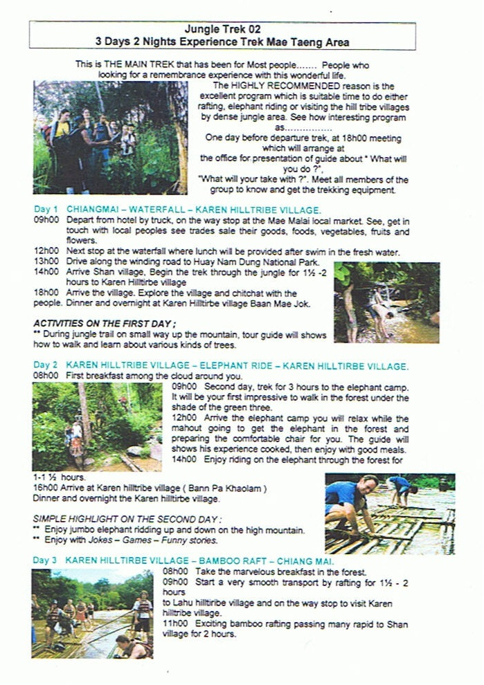 3day Mae Taeng Trekker Camp1