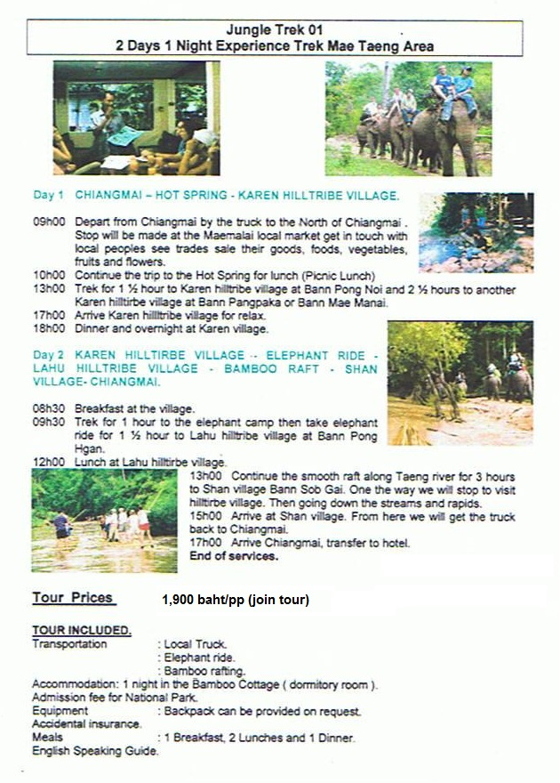 2day Mae Taeng Trekker Camp