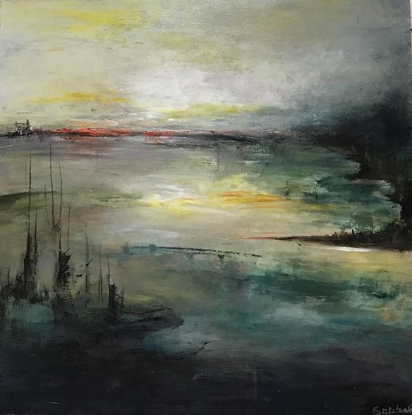 """""""Horizon"""" Acrylique sur toile 80x80 cm"""