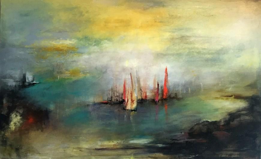 """""""Côté Sud"""" Acrylique sur toile 130x82 cm"""