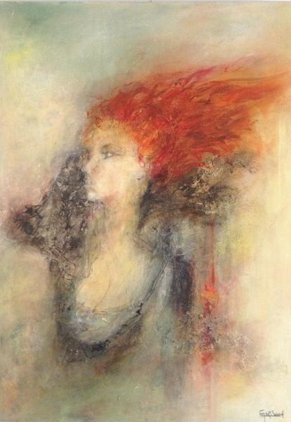 """""""Julie"""" Acrylique sur toile 93x65 cm"""