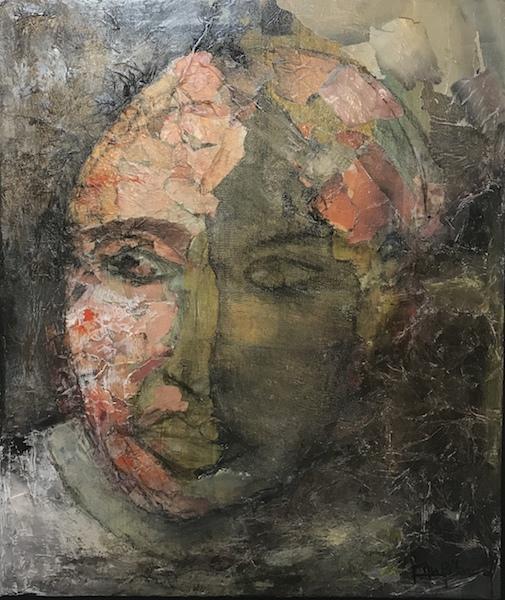 """""""K.O"""" Acrylique sur toile 46x55 cm"""
