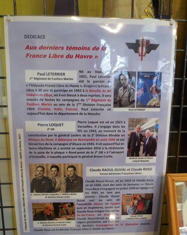 Une affiche de l'exposition sur les FFL du Havre