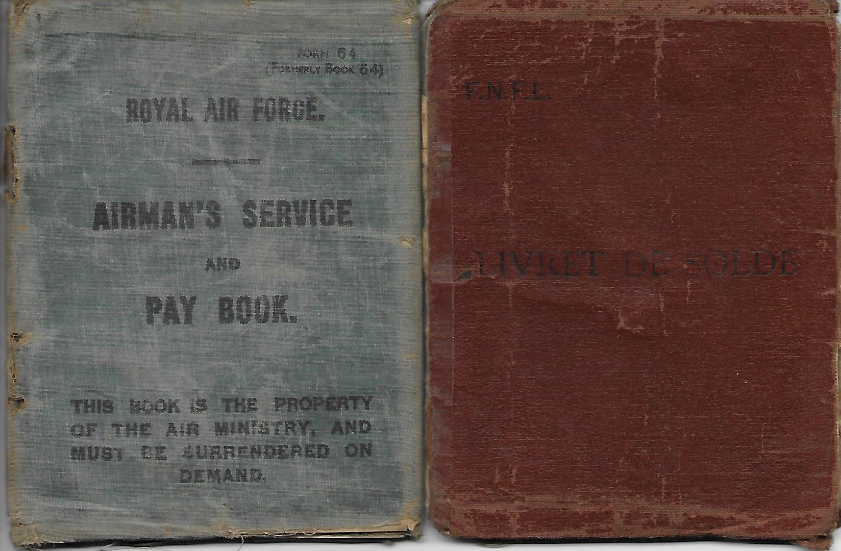 Pay Book RAF - copyright Jacques Lesclech