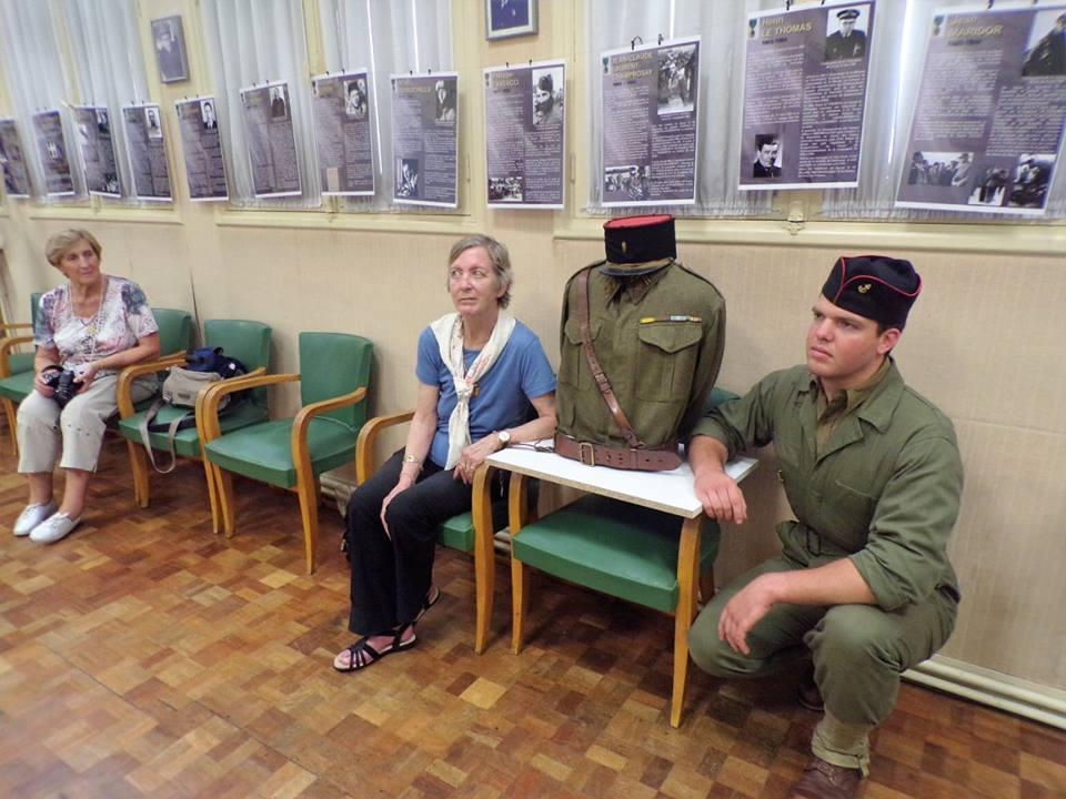 Exposition sur les Compagnons de la Libération dans la petite salle de l'Amac