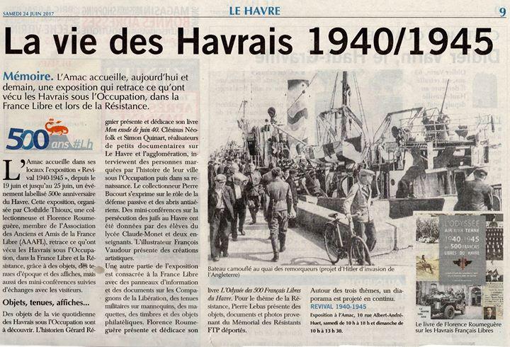 Article de presse sur l'exposition Revival 1940-1945