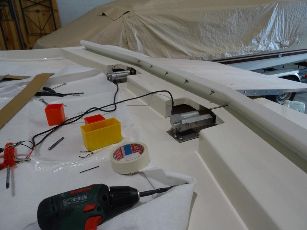 implementierte Schiebemotoren für Dachfenster