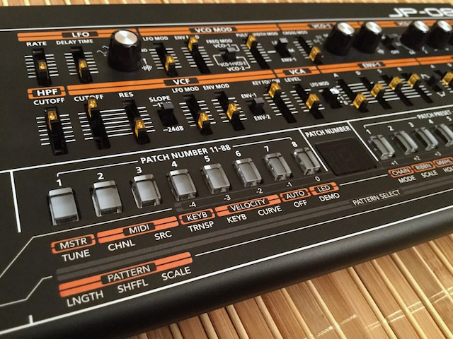 Xtique JPX8, Instrument Overlay (operating template/skin/Film) - for Roland Boutique JP-08