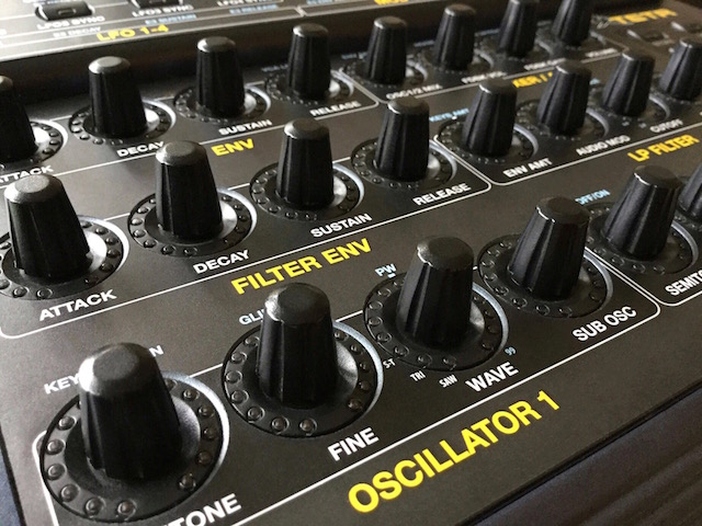 Xtetr BCR, Behringer BCR2000 MIDI Controller Overlay - für DSI Dave Smith Instruments Tetra