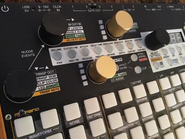 Xluge Complete, Instrument Overlay (Bedien-Schablone/Folie) - für Synthstrom Audible Deluge 3.0