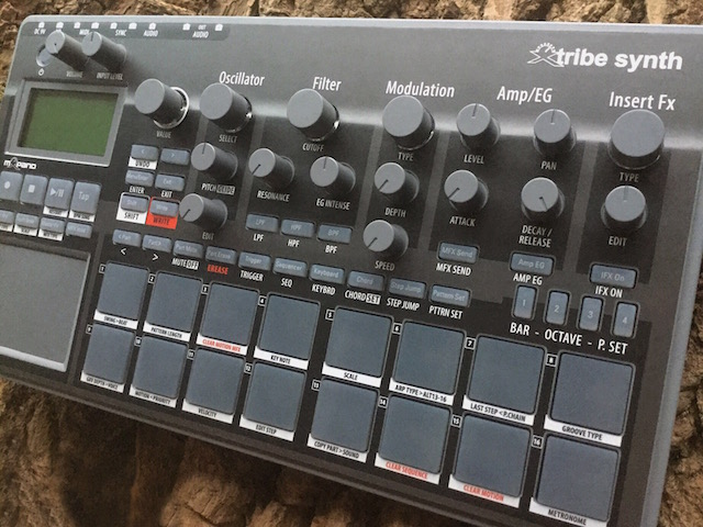 Xtribe Grey, Instrument Overlay (operating template/skin/film) - for Korg Electribe 2 synthesizer