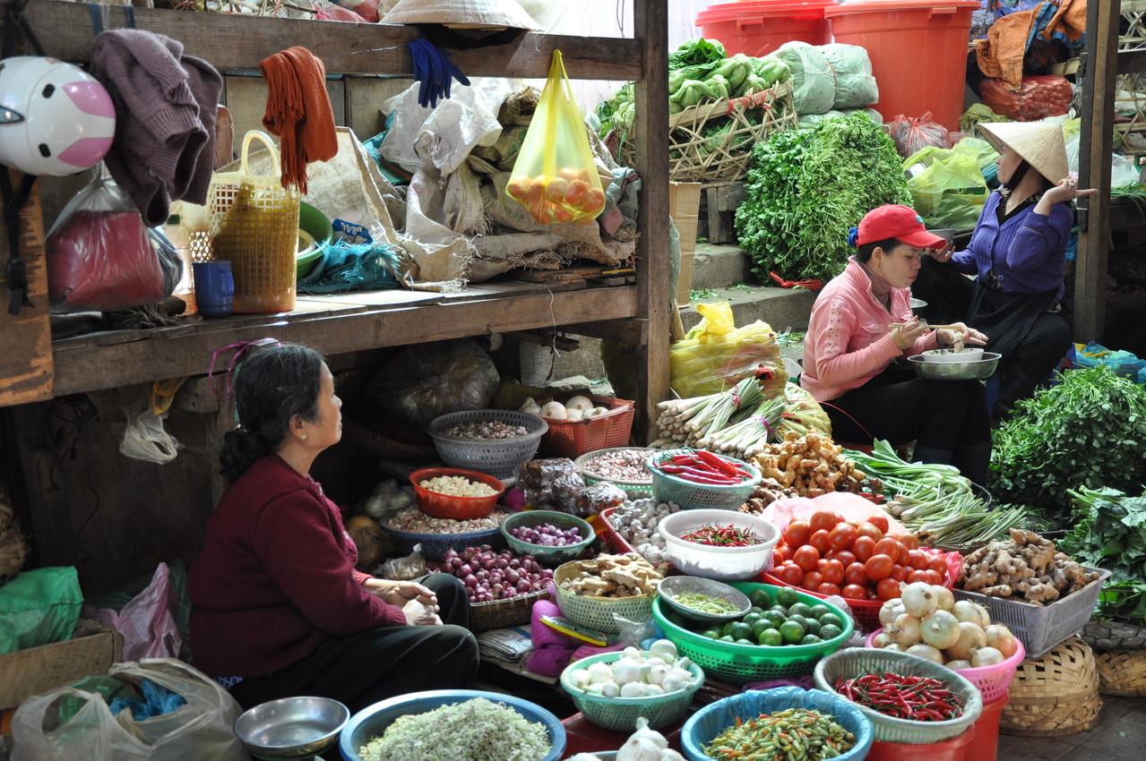 Dalat : marché aux légumes
