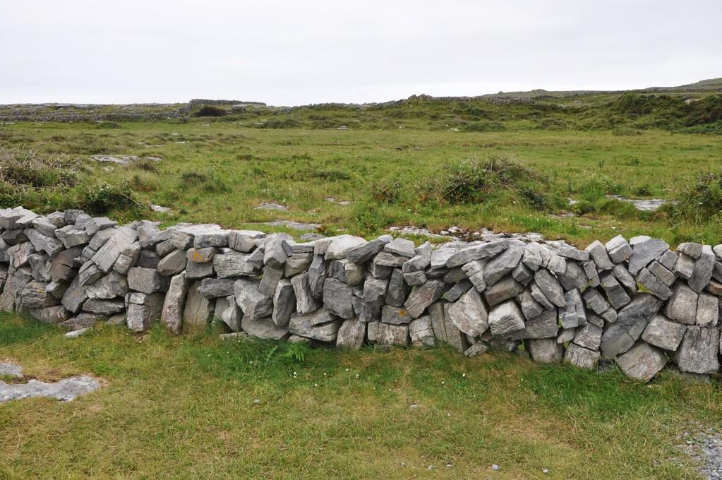 Un des nombreux murs de pierre qui parsèment l'île