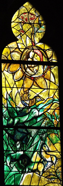 Le Paradis terrestre, vitrail de Marc Chagall, cathédrale de Metz