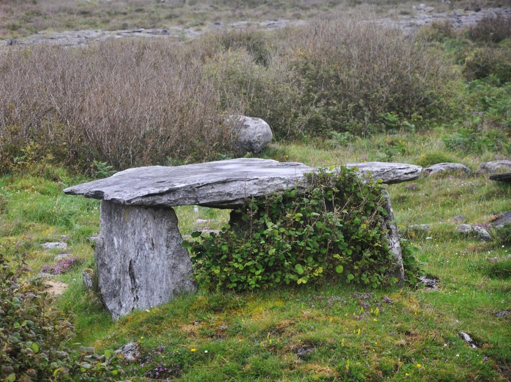 Un des nombreux dolmens qui parsèment le comté de Clare