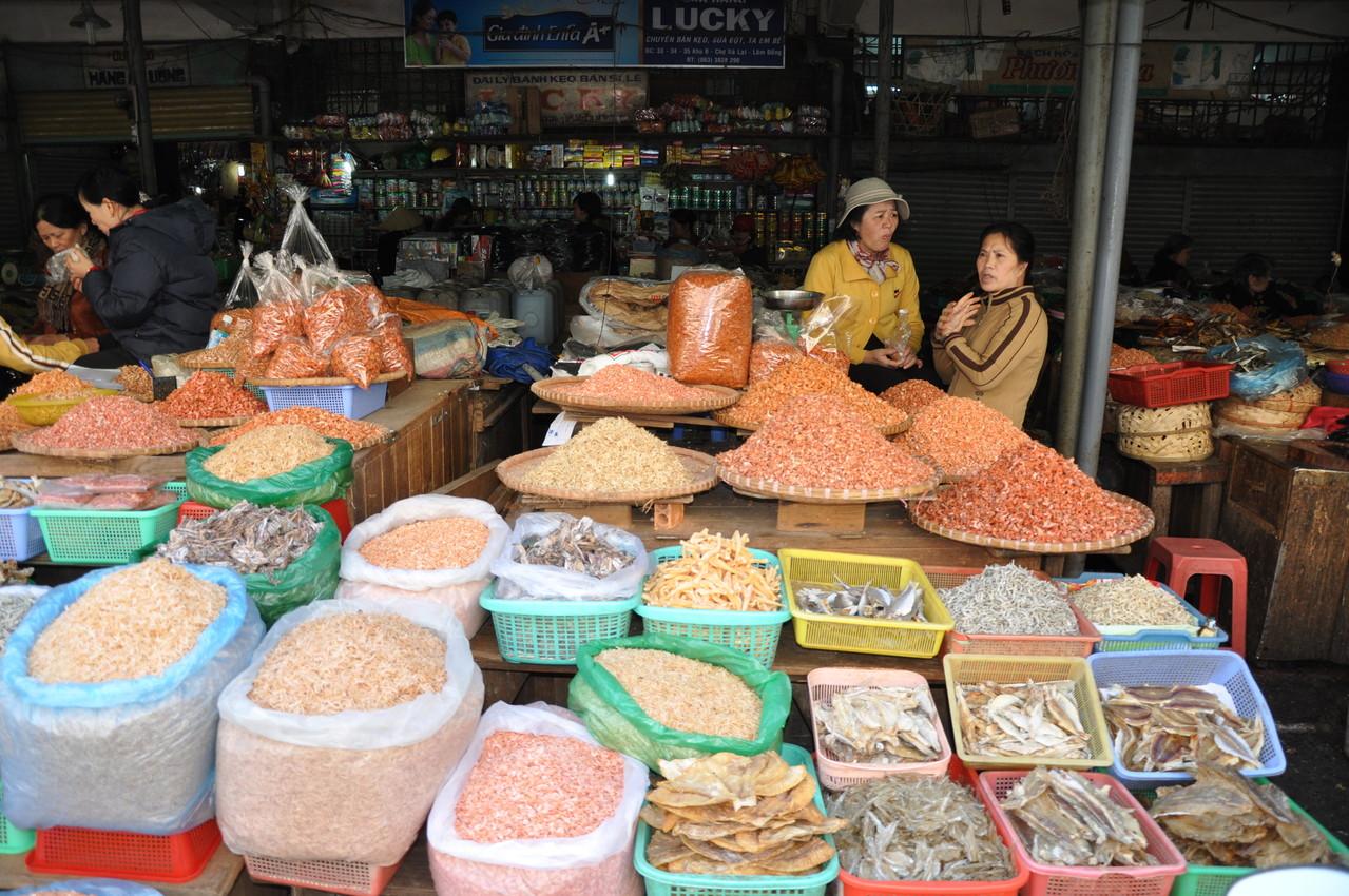Dalat : marché aux poissons