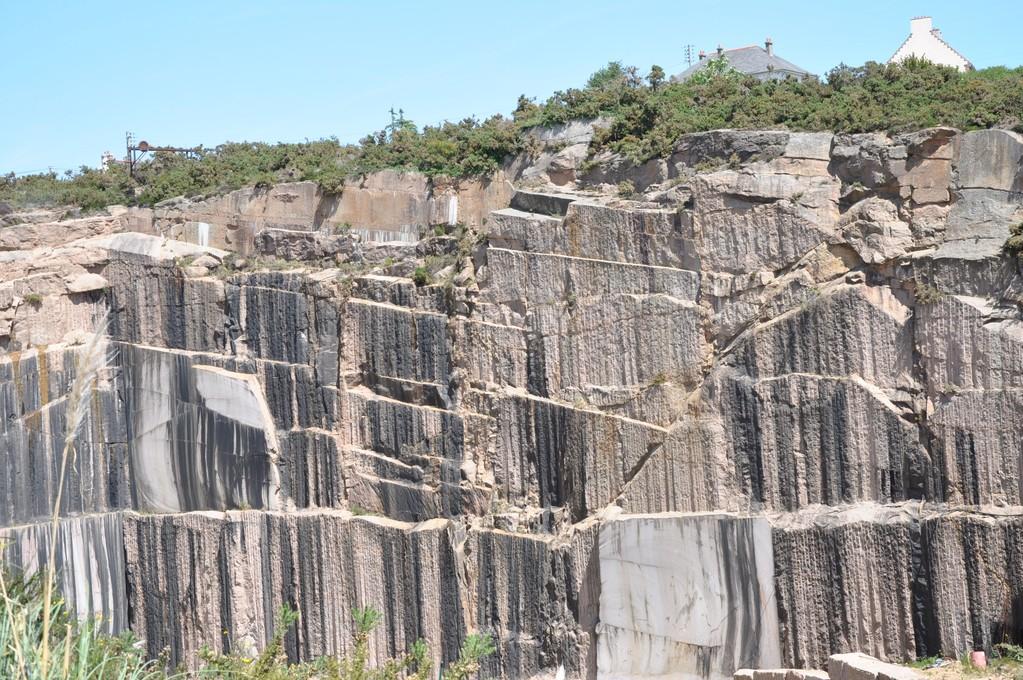 Gros plan de la carrière de granit