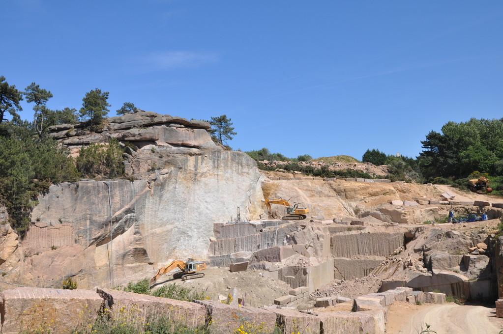Vue de la carrière de granit