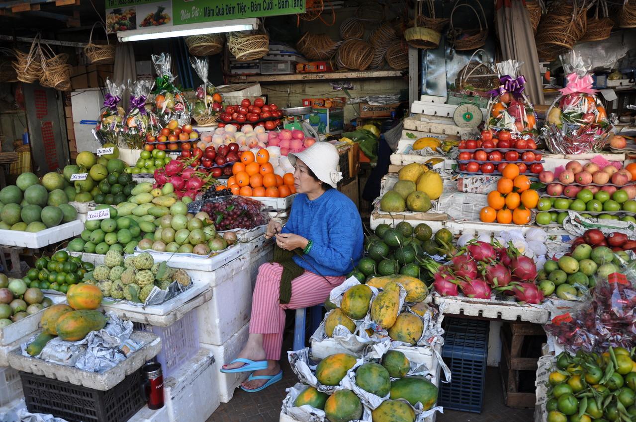 Dalat : marché aux fruits