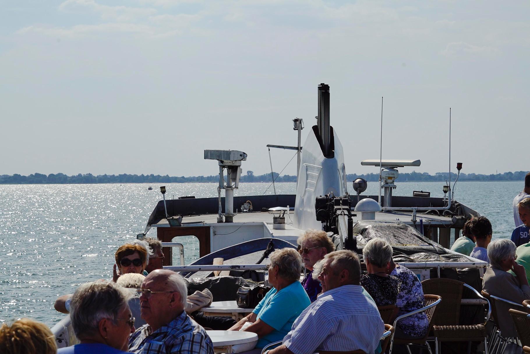 Nach dem Mittagessen gab es eine Schiffsrundfahrt auf dem Stettiner Haff.