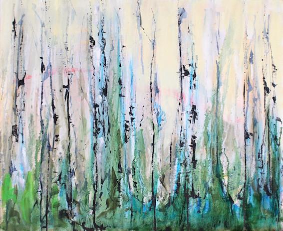Acryl/Öl/Tusche auf Leinwand, 50 x 60 cm