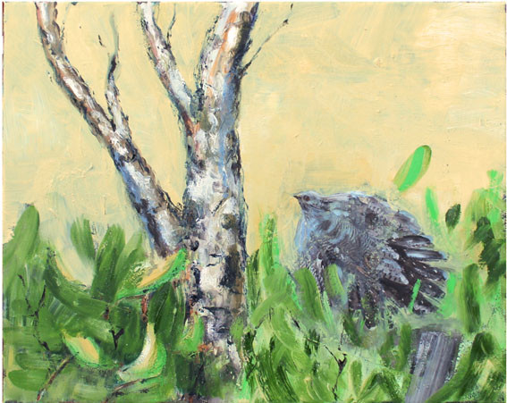 Acryl/Öl/FaluRödfärg auf Leinwand, 40 x 50 cm