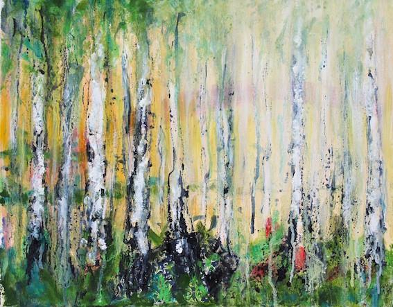 Acryl/Öl/Tusche/Kollage auf Leinwand, 35 x 45 cm