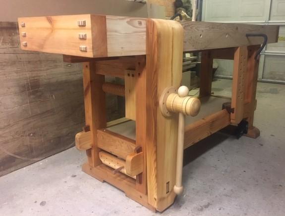 Carpenters bench/ leg vice/ based on The Samurai Carpenter