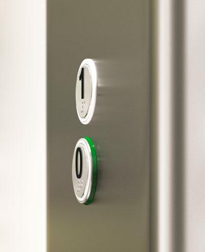 Verlichte drukknoppen met braille