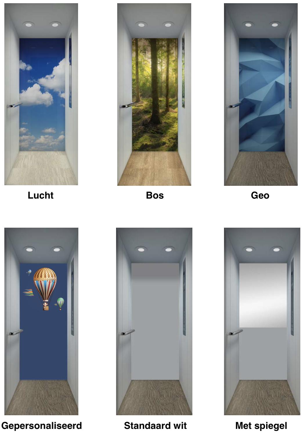 Keuze uit diverse interieurs