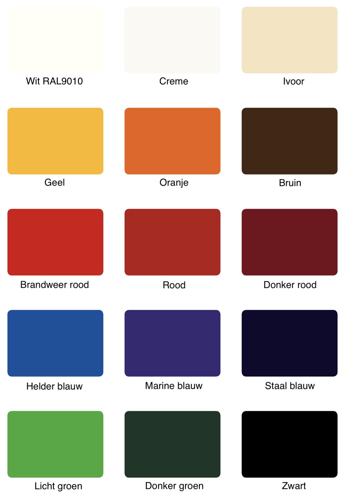Kleuren interieur wanden