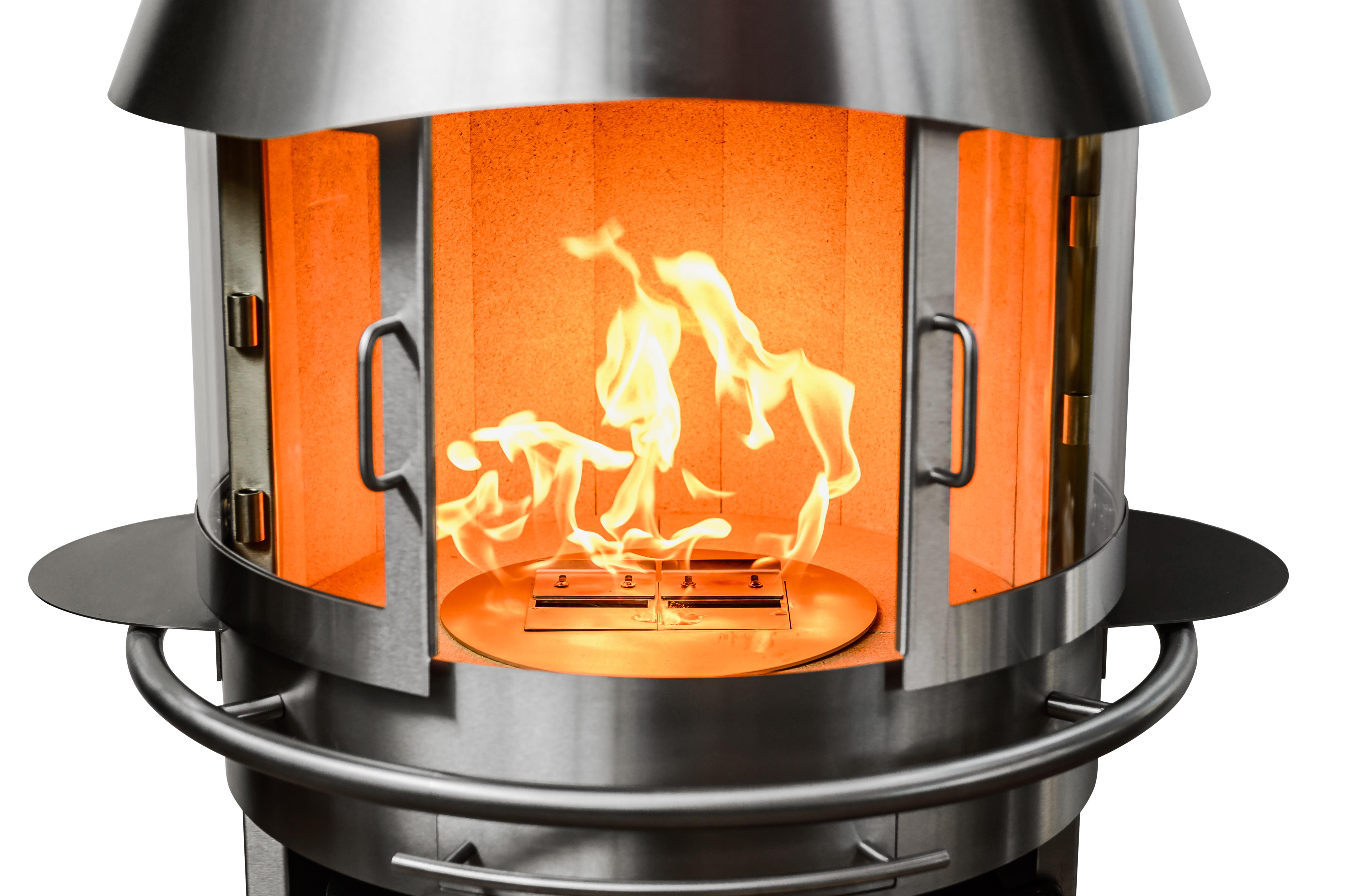 Bioethanol-Brennkammer Grillkamin Messestand Dimaro