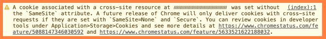 Проверка настройки межсайтов файлов межсайтовые файлы Cookie в инструментах разработчика Developer Tools
