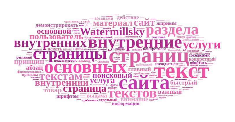 Текст для внутренних страниц Watermillsky