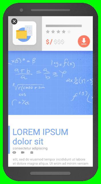 Рекламный баннер с разумным использованием пространства экрана