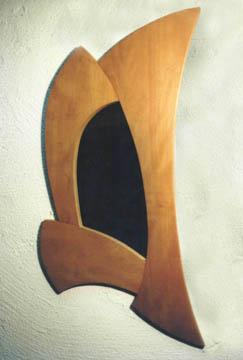 Spiegelrahmen aus Birnbaumholz