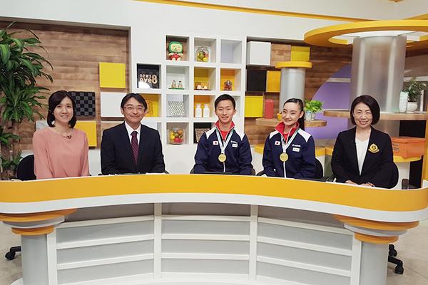18.06.13(水)群馬テレビ「ニュースeye」に日本史上初の男女共に金メダルを獲得し出演