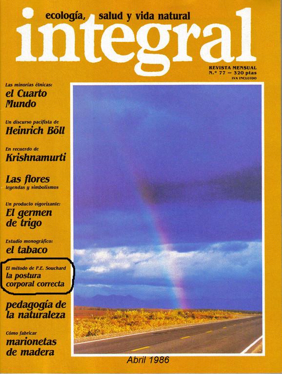 Primer artículo publicado de RPG en España, Publicado por Integral en Abril 1986, de la entrevista realizada por el Dr. Loroño en Saint-Mont, Diciembre 1985.