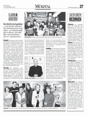 Kleine Zeitung Mürztal 10.12.2002