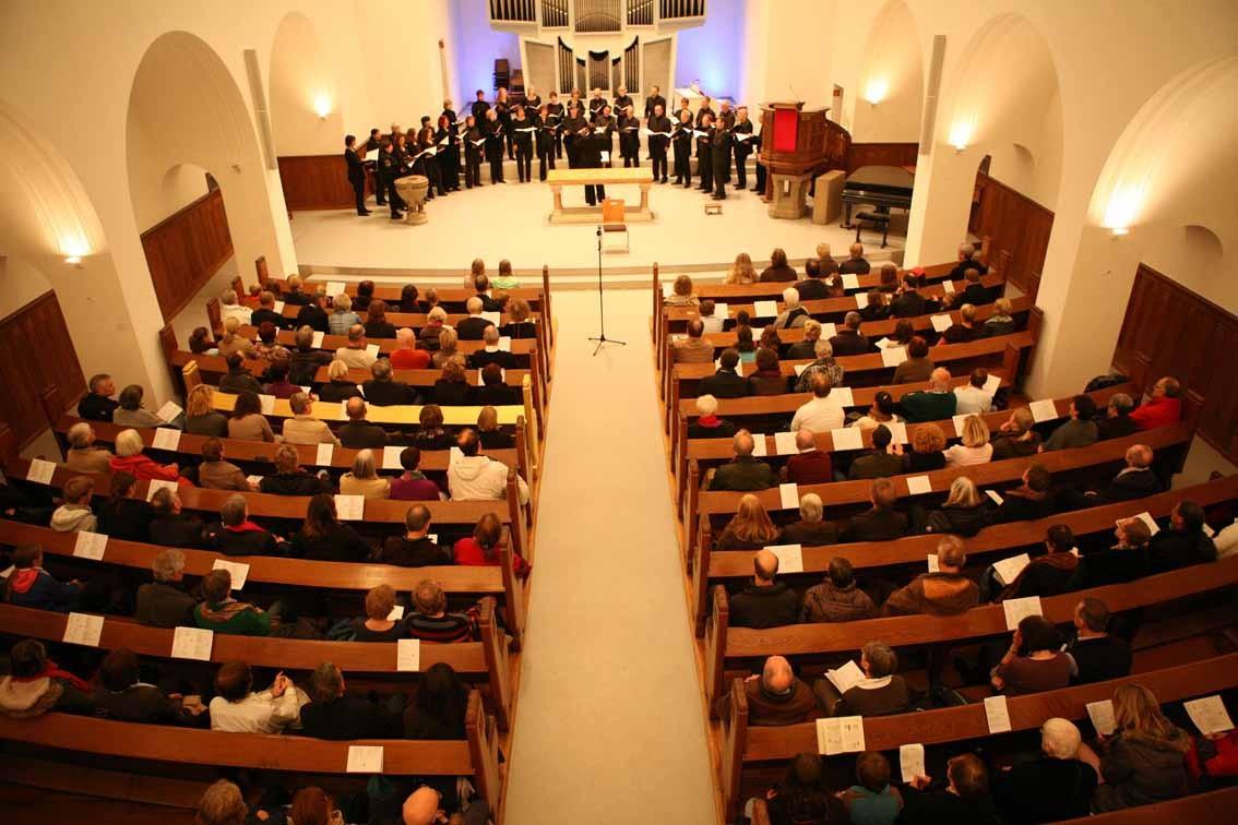 Das Bonner Vokalensemble in der Lutherkirche. Foto: Hai Cheng, Bonn