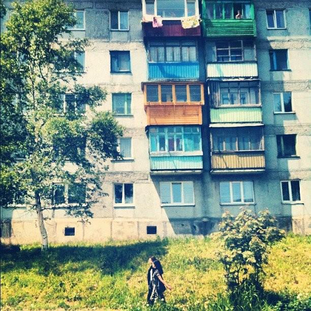 コルサコフ散歩中