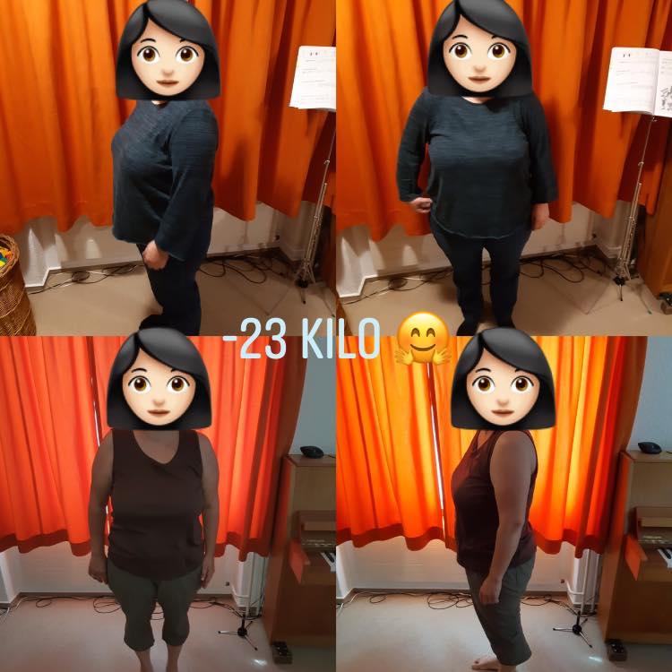 - 23 Kilo in 6 Monaten