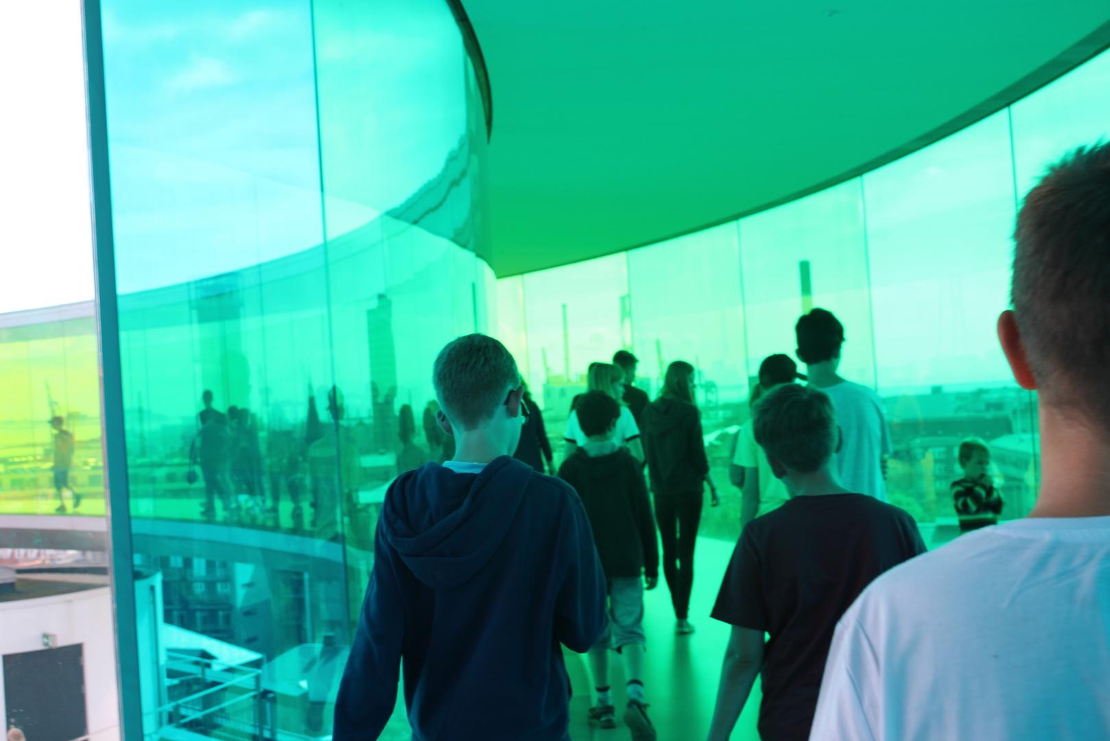 Rundgang in der Aussichtsplattform des Kunstmuseums Aarhus