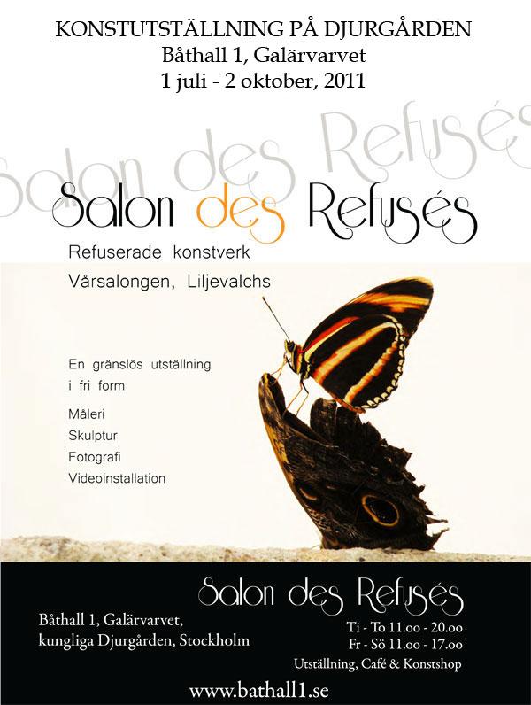 Salon des Refusés, Group Show with 400 artists refused for Liljevalch's Spring Salon. Bathall 1, Stockholm 2011