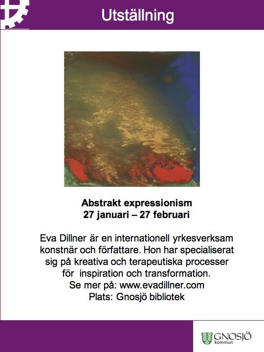 Abstrakt Expressionism, Gnosjö Art Gallery 2016